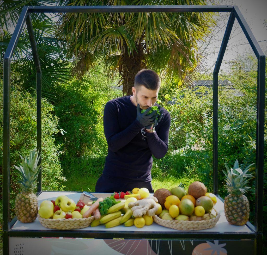 stand de fruits pressés anims de freddy